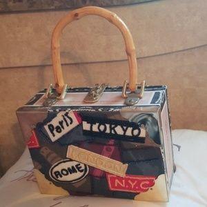 Cigar leppard box purse